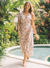 Sasi Maxi Dress - Flamingo Flowers