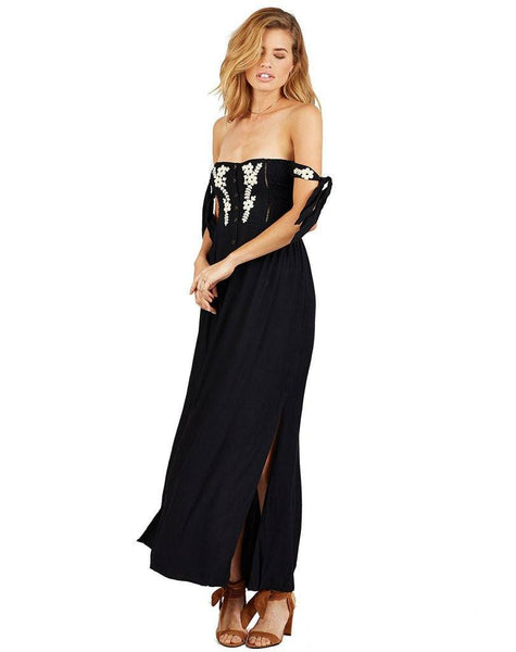 Solita Maxi Dress in  Black