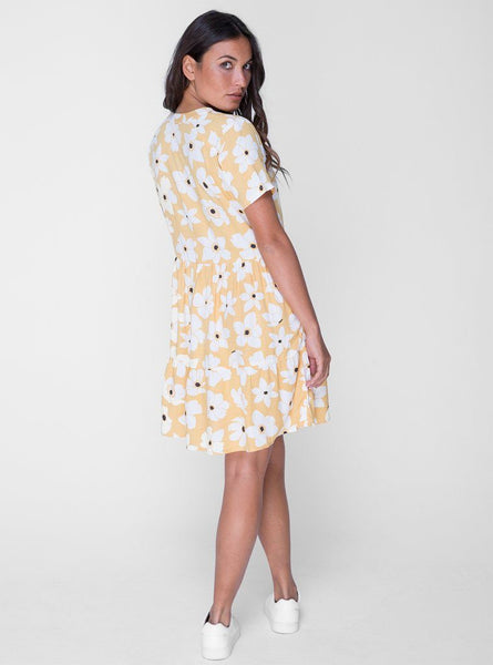 Sun Mini Dress - Wildflower Yellow