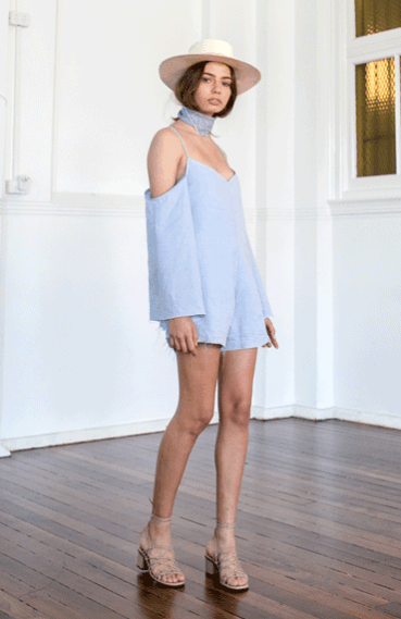 Esme Playsuit / Blue