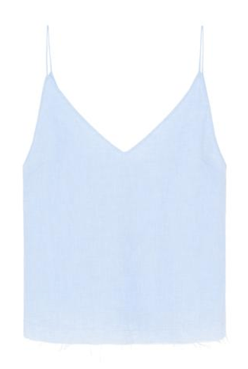 Yves Lace Up Cami / Blue
