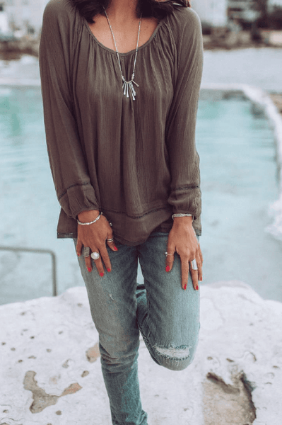 Grace Top in Khaki