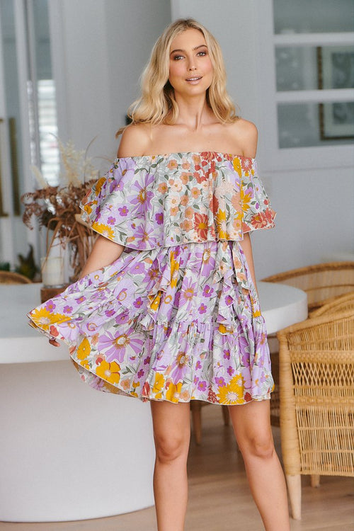 Georgie Mini Dress - Secret Garden