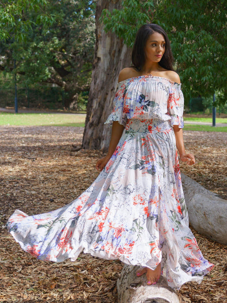 Leah Maxi in Waterlily Print