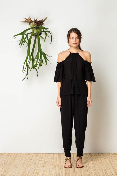 Hidden Heart Top in Black