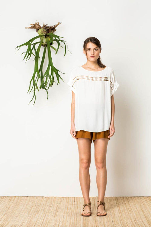 The Inka Top in White