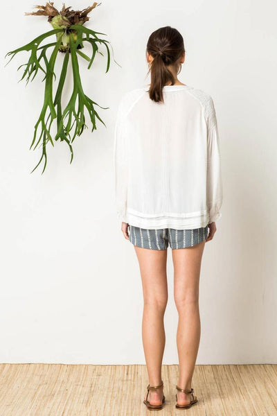 Gypsy Soul Peasant Shirt in White