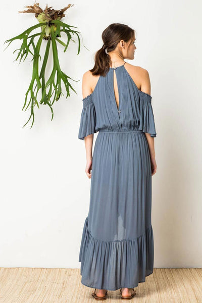 Hidden Heart Dress in Slate Blue