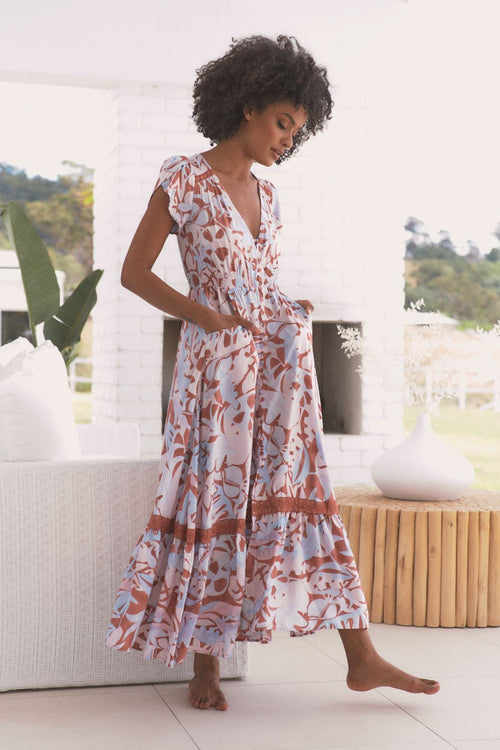 Carmen Maxi Dress - Neapolitan Print
