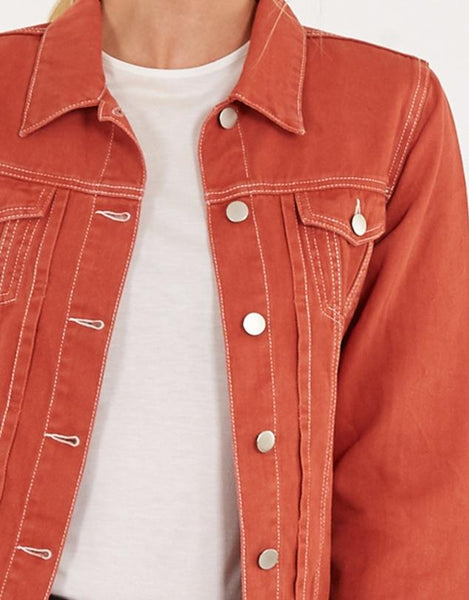Vintage Denim Jacket - Rust