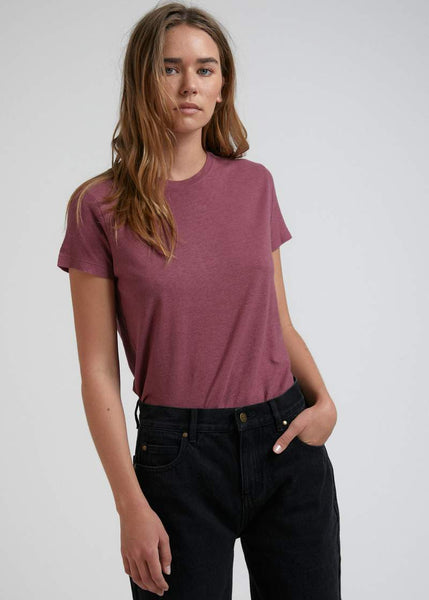 Hemp Basics Standard Fit Tee - Redwood