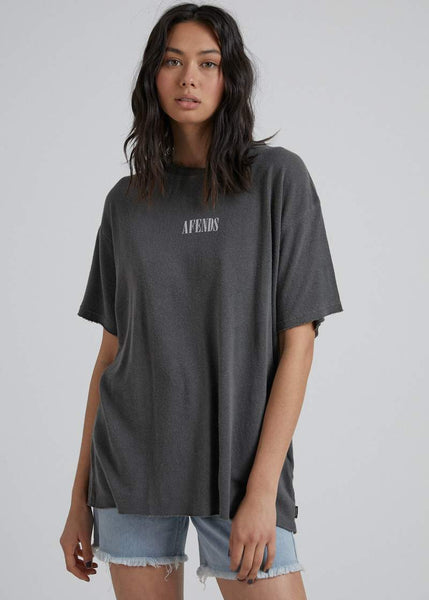 Courtney Love Hemp Oversized Tee - Stone Black