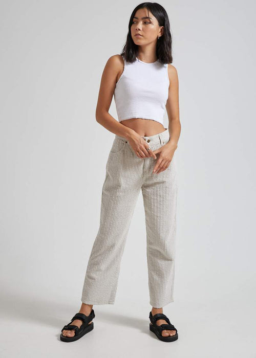 Shelby Textured Corduroy High Waisted Pant