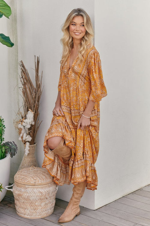 Jazmin Maxi Dress - Yellow Dahlia