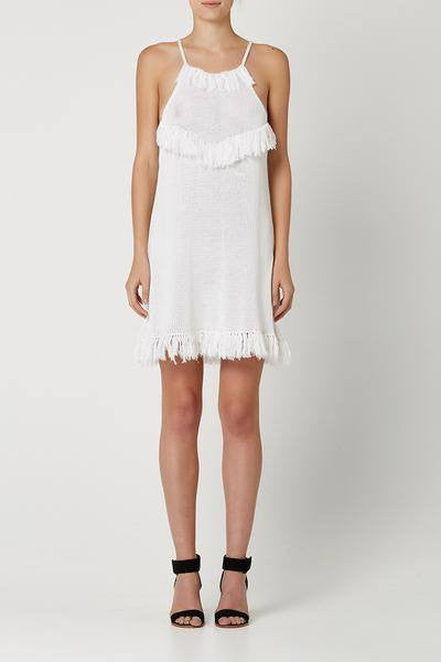 Demi Crochet Dress / White