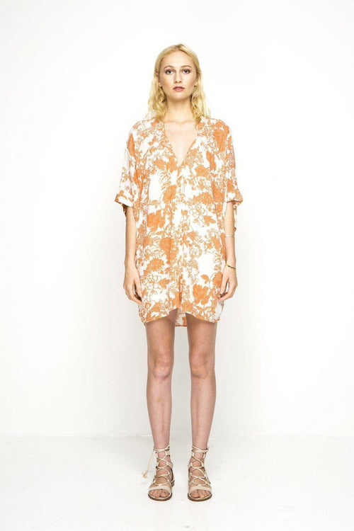 Island Shift Dress / Desert Bloom Rust