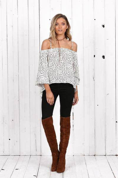 Tasmin Cold Shoulder Top