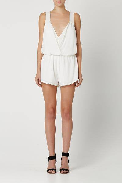 Honeybear Playsuit / White