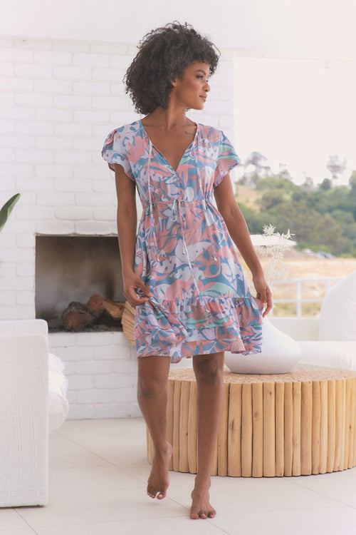 Faithful Mini Dress - Rainbow Sherbert