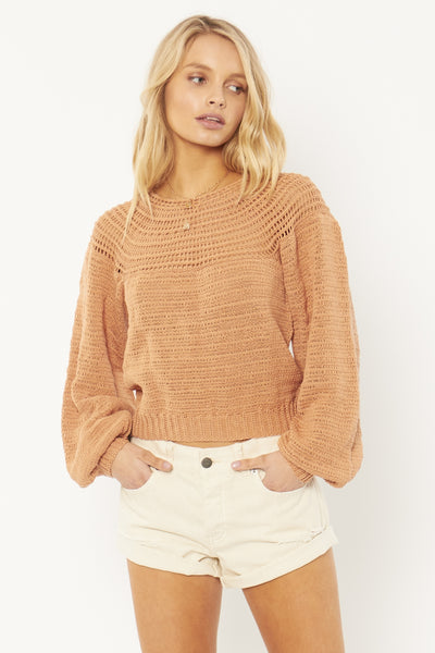 Stevie L/S Knit - Baked Clay
