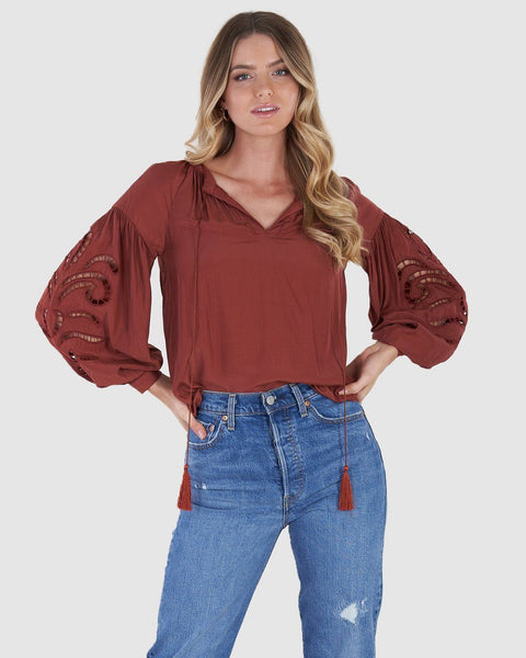 Florence Blouse - Rust