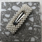 Beaded Pearl Square Hairclips