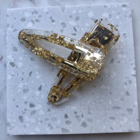Gold Foil Hair Clips