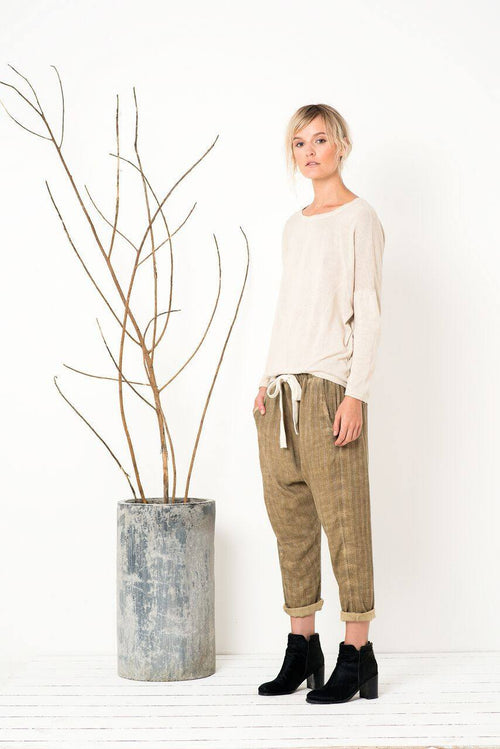 Mad World Pants in Washed Olive