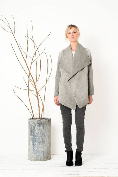 The Requiem Jacket in Washed Silver