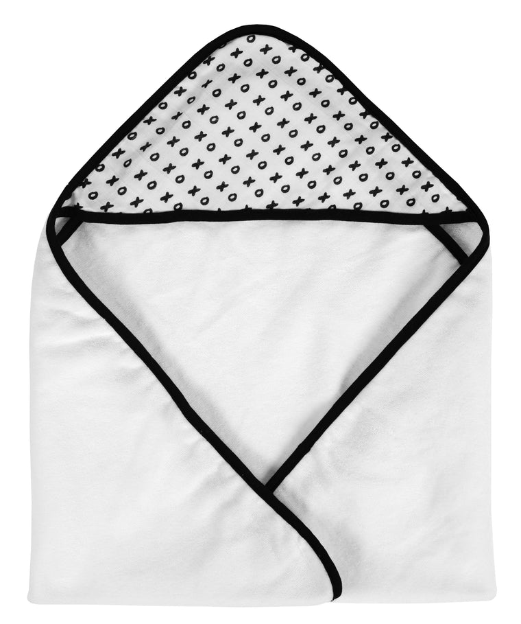 MODERN BURLAP Muslin + Terry Hooded Towel XO