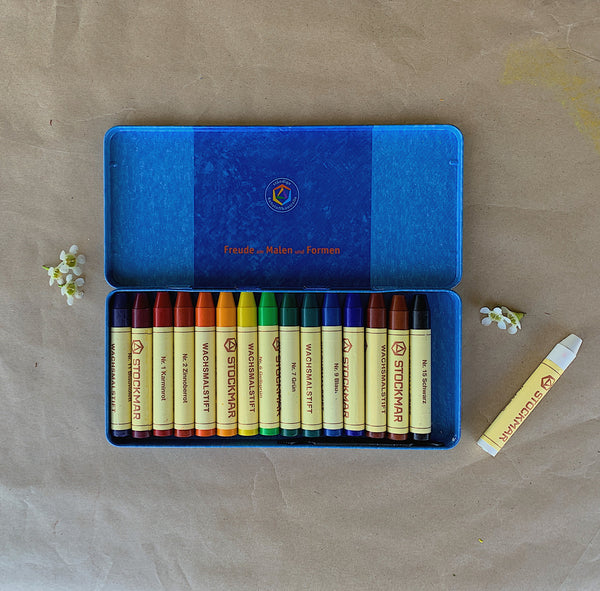 STOCKMAR | Pure Beeswax Crayons | 16 Sticks In Tin