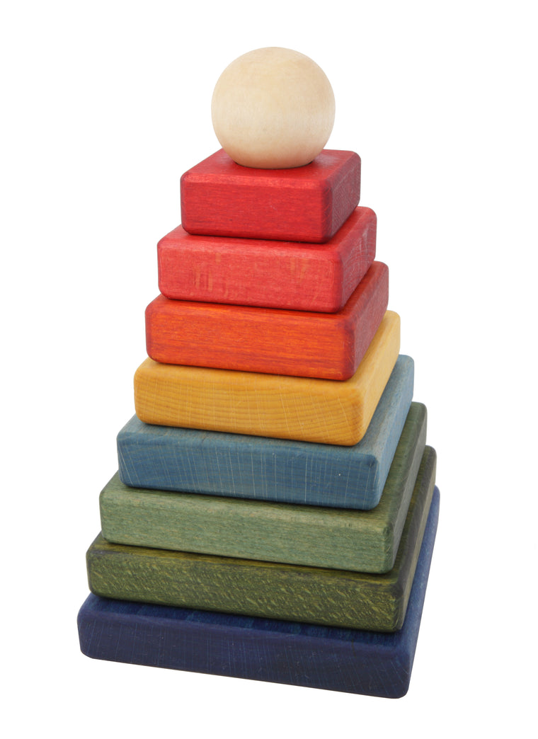 WOODEN STORY Rainbow Pyramid Stacker
