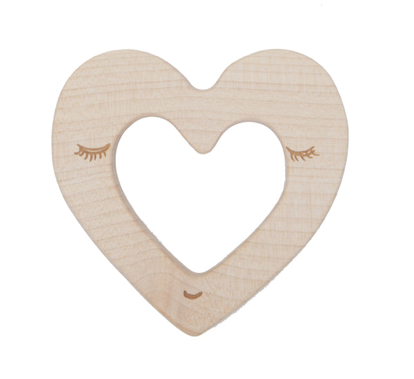 WOODEN STORY Heart Maplewood Teether