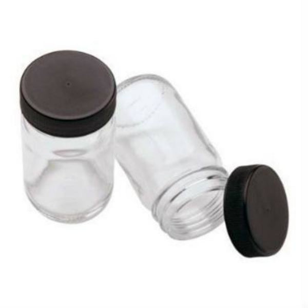 MERCURIUS | Paint Jars with Black Lids 100ml  6 Jars