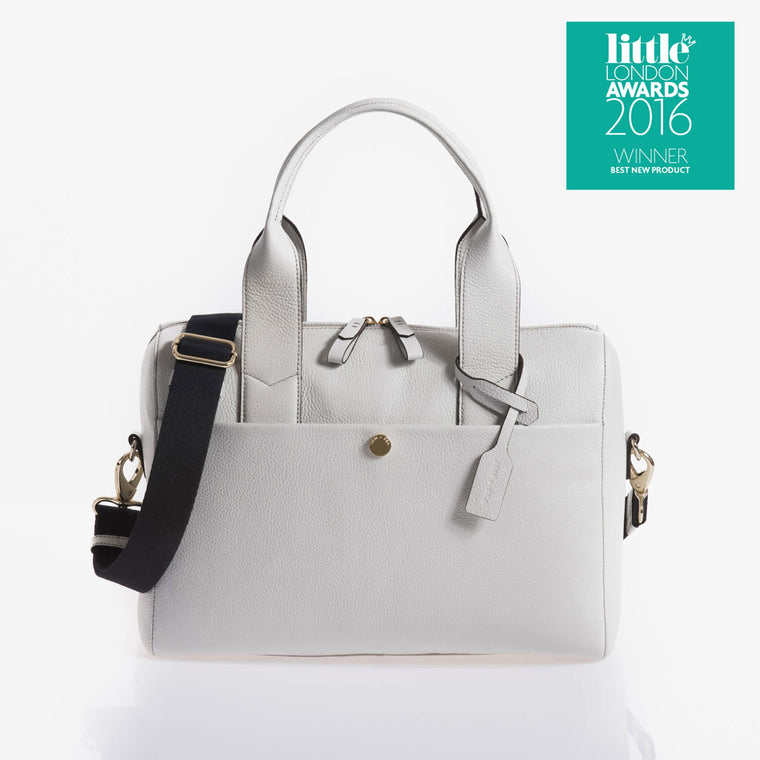 JEM + BEA Amber Grey Changing Bag  White