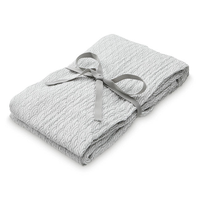 CAM CAM COPENHAGEN | Organic Printed Light Swaddle | Grey Wave