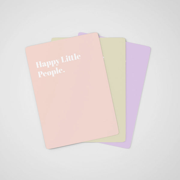 HAPPY LITTLE PEOPLE Card Deck of Creative Games for Baby's First Year of Life