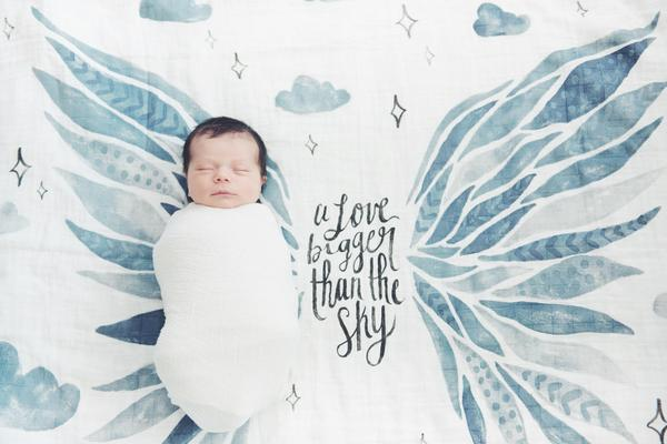COVETED THINGS Wings Organic Swaddle