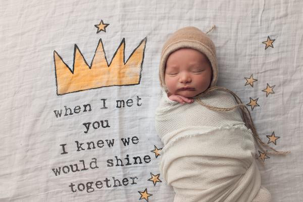 COVETED THINGS | Organic Swaddle | Crown
