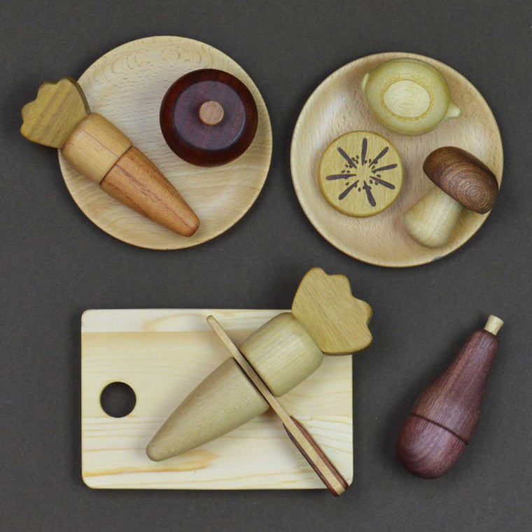 SOOPSORI Wooden Fruit & Vegetable Set