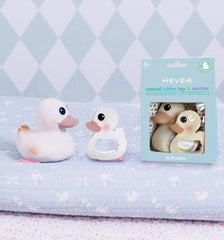 HEVEA Natural Rubber Teether / Kawan Duck Combo