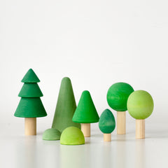 RADUGA GRËZ  | Wooden Tree Forest Set | Coloured