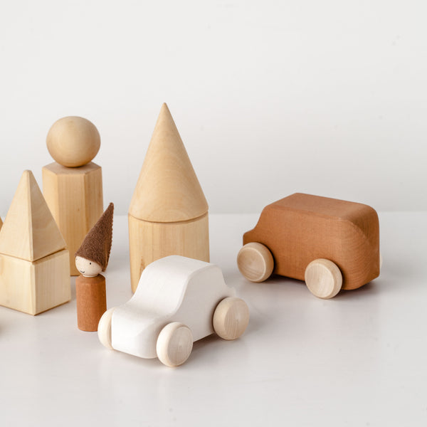 RADUGA GRËZ  | Wooden Toy Car | White