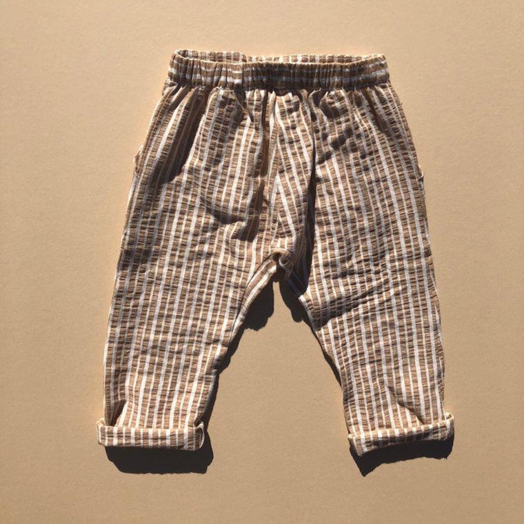 RAARAA KIDS | Stripe Archer Pant | Tan