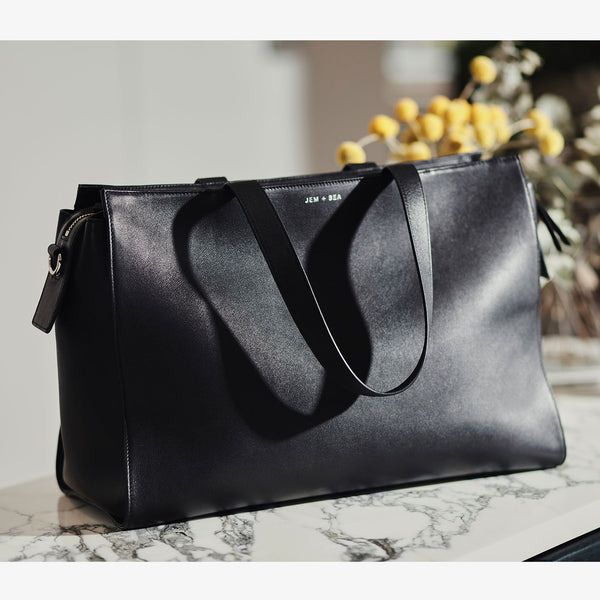 JEM + BEA Margot Changing Bag Black