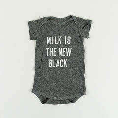 JEAN & JUNE | Milk is the new black | Organic Baby Onesie