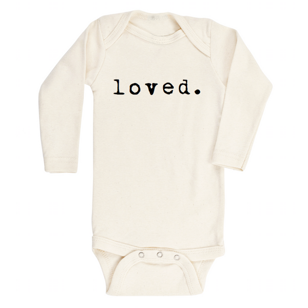 TENTH & PINE Organic Long Sleeve Onesie Loved