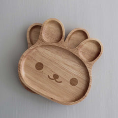 LEO & FRED Wooden Kids Plate – Bear Plate