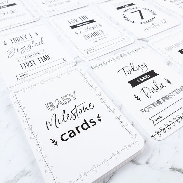 BELLE & GRACE | Baby Milestone Cards