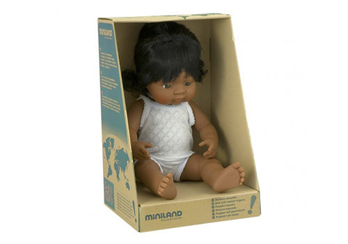 MINILAND Anatomically Correct Baby Doll Latin American Girl 38cm